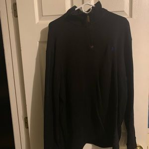 Polo 1/4 zip-up sweater